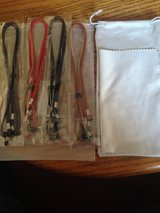 4 EYEGLASSE CORDS, BAG AND CLOTH in Fort Campbell, Kentucky