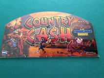 slot machine glass / art from country cash game in Leesville, Louisiana