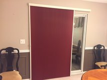 Bali blackout vertical cellular shade/blind for Patio Door-heavy duty construction in Chicago, Illinois