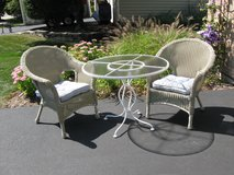 Cute Comfy (Resin Wicker and Iron) Bistro Set in Naperville, Illinois