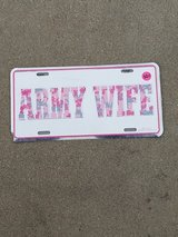 Army Wife License Plate in Fort Carson, Colorado