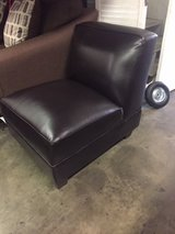 BRAND NEW! SINGLE LEATHER COMFY ARMLESS ACCENT CHAIR in Camp Pendleton, California