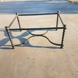 Cool wrought iron table base in Yucca Valley, California