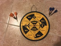 Vintage / Antique Dart Board w/ 6 Darts (Double Sided) in Plainfield, Illinois