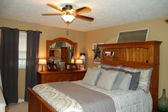 Queen bed with dresser in Oswego, Illinois