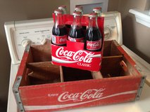 Coca-cola bottles and crate in Byron, Georgia