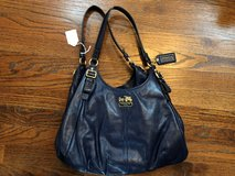 Blue Leather Coach Purse in Fort Campbell, Kentucky