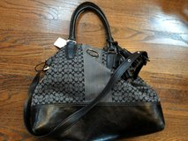 Leather and Cloth Coach Purse in Fort Campbell, Kentucky