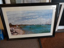 GREAT FRAMED PICTURE - HARBOR SCENE in Cherry Point, North Carolina