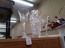 Crystal Pieces vase and goblets in Fort Rucker, Alabama