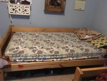 Solid wood bunk beds. Can be used as two separate twin beds! price reduced to sell! in Lawton, Oklahoma