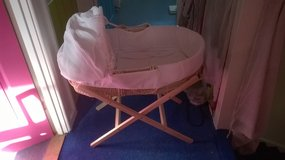Moses basket with hood and stand in Lakenheath, UK