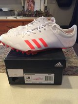 Adidas men's track shoes( worn once) in Chicago, Illinois