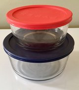 Pyrex glass 1 and 1.75Qt storage dishes w/lid in Fort Leonard Wood, Missouri