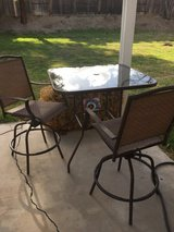 Rectangular patio table W/(2) tall chairs in Camp Pendleton, California