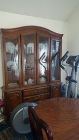 China cabinet and dining table 6 chairs in Fairfield, California