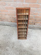 Vintage Print Type Case Cabinet Spacer Storage in The Woodlands, Texas