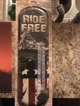 Ride Free Metal Thermometer in Fort Knox, Kentucky