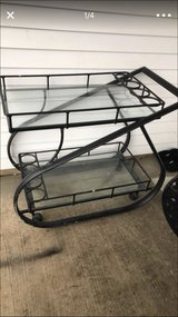 2layers metal base glass tops cart in Lockport, Illinois