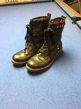 Women's size 8 1/2 black combat boots in Glendale Heights, Illinois