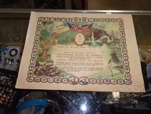 Set of Two World War II Armed Forces Certificate in Fort Riley, Kansas