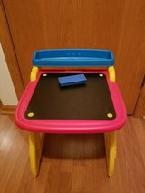 2 in 1 Crayola easel and chalk board folding desk in Aurora, Illinois