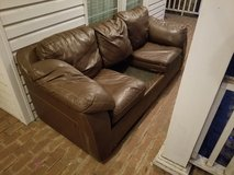 Leather Couch Missing One Cushion! in Warner Robins, Georgia