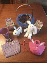 Nine Easter items- baskets, small pails/boxes, stuffed bunnies, purses in Warner Robins, Georgia