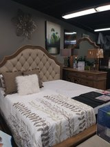Bedroom set with Upholstered Headboard in Fort Campbell, Kentucky