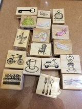 Lot of 30 rubber stamps in Bolingbrook, Illinois