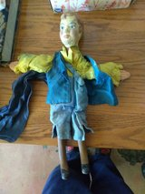 Vintage wooden hand puppet in Yucca Valley, California