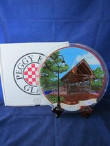 PEGGY KARR GLASS ART Covered Bridge Naperville Illinois NEW in BOX in Glendale Heights, Illinois