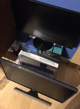 """Two 24"""" monitors and a Linksys EA9500 Router in Travis AFB, California"""