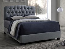 SALE! CONTEMPORARY SLEEK STYLING LINEN GREY TUFTED QUEEN BEDFRAME in Camp Pendleton, California