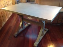 Trestle dining table in Brookfield, Wisconsin