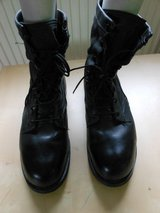 Black Steel Toed 10.5 Boots in Ramstein, Germany