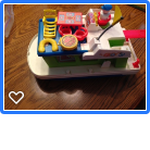 Vintage Fisher Price Houseboat and accesories in Joliet, Illinois