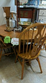 Oak table w/4chairs in Fort Campbell, Kentucky