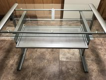 Metal and glass desk in Naperville, Illinois