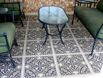 OUTDOOR PATIO RUG  10.5 FT X 7.5 FT. in Byron, Georgia