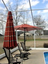 2  OUTDOOR UMBRELLAS, MATCHING 7 FT. in Byron, Georgia