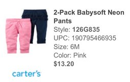Baby Girl Pants, 6 mo. BNWT in Ramstein, Germany