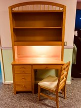 2 - Student Desk w Hutch by Stanley Furniture Solid Wood in Natural Maple in Naperville, Illinois
