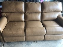 New Leather 3 seat Reclining couch in Naperville, Illinois
