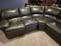 Ashley Black Leather Sectional in Quantico, Virginia