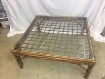 Bamboo Coffee Table with Glass Top in 29 Palms, California