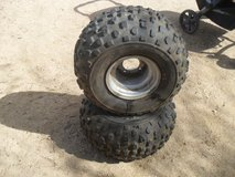 ##  Yamaha Atv Rims + Tires  ## in Yucca Valley, California
