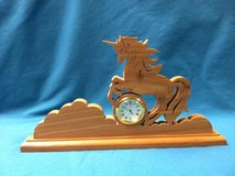 Unicorn wood carving in Algonquin, Illinois