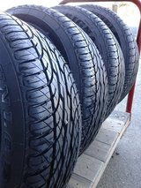 Dunlap Signature Tires 180/60 R15's Matching Set of 4. in Travis AFB, California