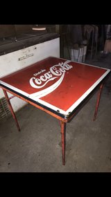 Vintage Mexico Coca-Cola Metal Table in Pasadena, Texas